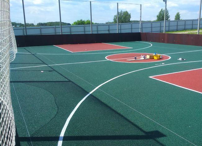 Краска для разметки спортивных резиновых площадок прайс гидроизоляция помещений растворы